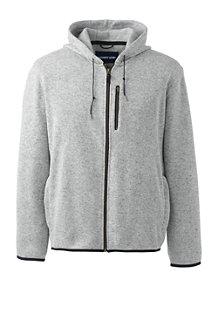Men's Sweater Fleece Zip-front Hoodie