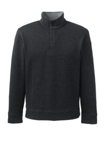 Men's Bedford Rib Heather Button Through Popover