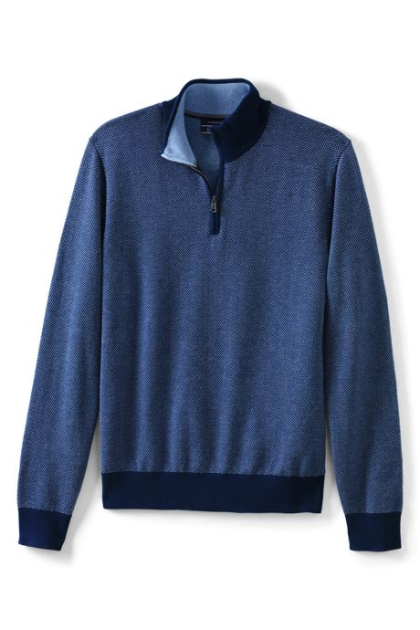 Men's Herringbone Fine Gauge Supima Cotton Quarter Zip