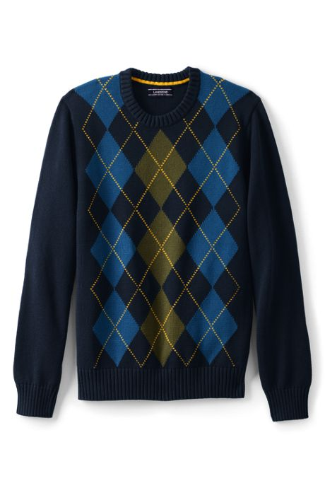 Men's Cotton Drifter Argyle Crew Sweater