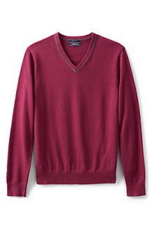 Men's Tipped Fine Gauge Cotton Jumper