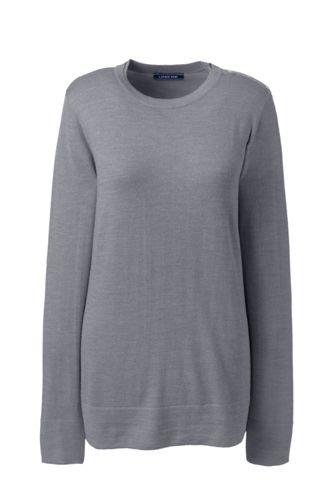 style à la mode prix favorable comment acheter Le Pull Mérinos Col Rond Boutonné Épaule, Femme
