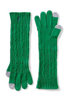 Women's Long Cable Knit Gloves