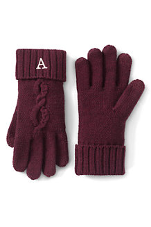 Women's Twisted Cable Knit Gloves