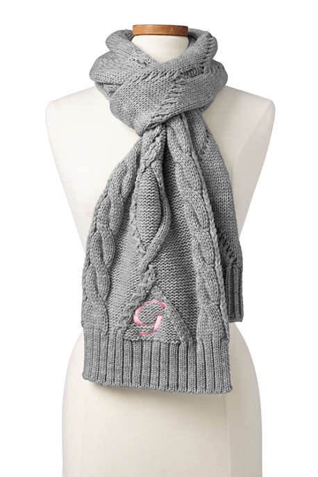 Women's Twisted Cable Scarf