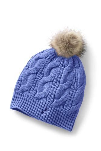 Women's Cable Knit Bobble Hat