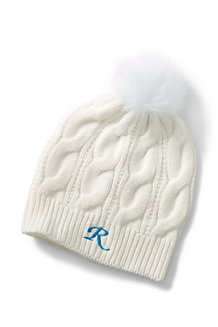 Women's Cable Knit Bobble Hat