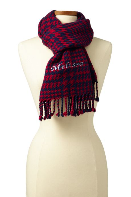 Women's Houndstooth Plaid Scarf