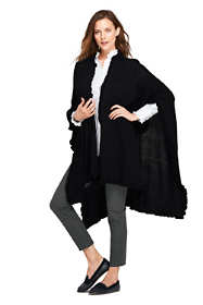 School Uniform Women's Ruffle Shawl Wrap