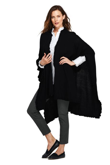Women's Ruffle Shawl Wrap