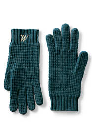 Women's Waffle Knit Cashmere Gloves