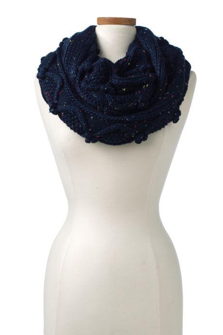 Women's Aran Popcorn Knit Infinity