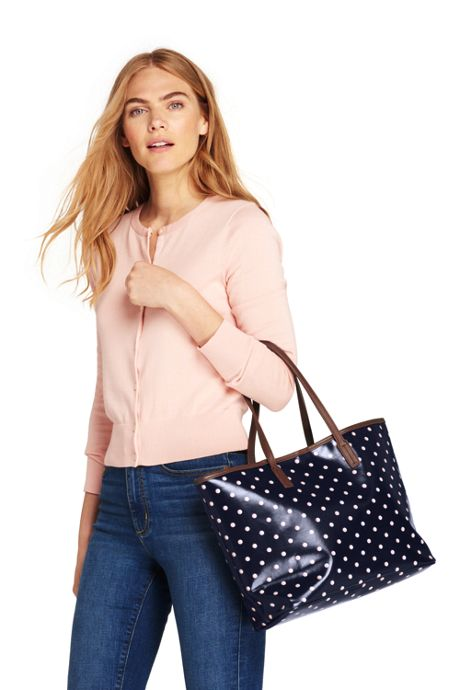 Women's Coated Canvas Tote Bag