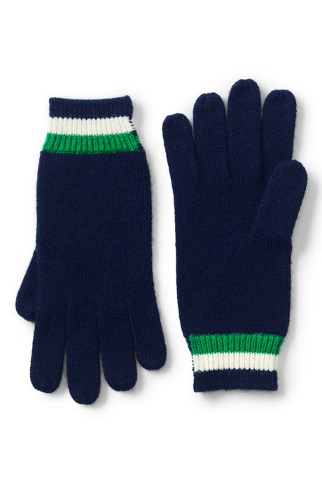 Women's Stripe Knit Gloves