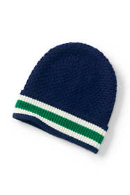 Women's Fold Over Stripe Brim Beanie