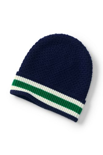 Women's Stripe Knit Beanie Hat