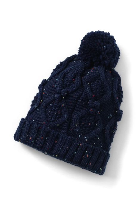 Women's Aran Popcorn Knit Beanie