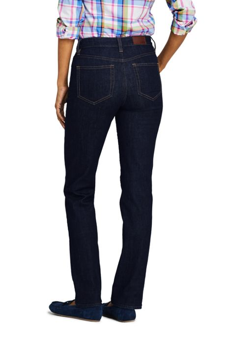 Women's Tall Mid Rise Straight Leg Jeans - Blue