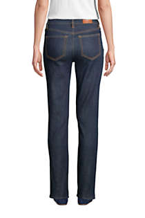 Women's Mid Rise Straight Leg Jeans - Blue, Back