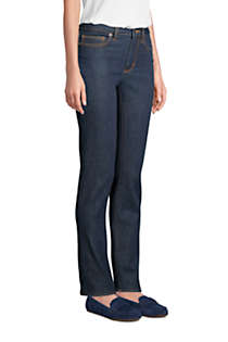 Women's Mid Rise Straight Leg Jeans - Blue, alternative image