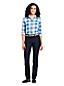 Le Jean Indigo Stretch Droit Taille Mi-Haute, Femme Stature Standard