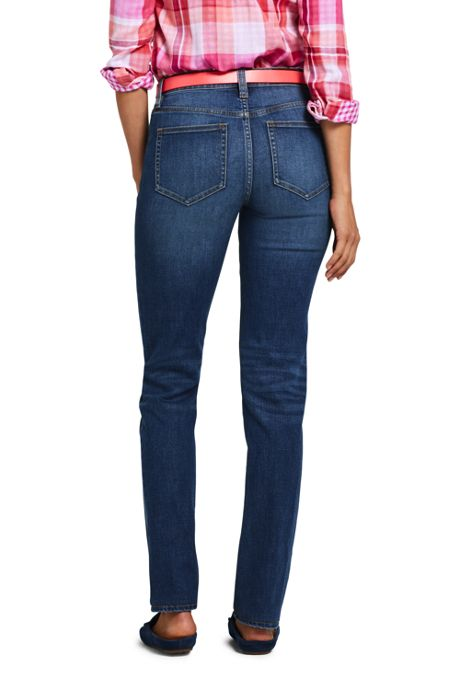 Women's Tall Mid Rise Straight Leg Jeans
