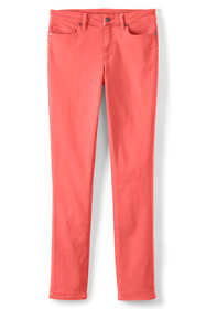 Women's Plus Size Mid Rise Straight Leg Colorful Jeans