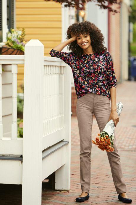 Women's Mid Rise Straight Leg Jeans - Color