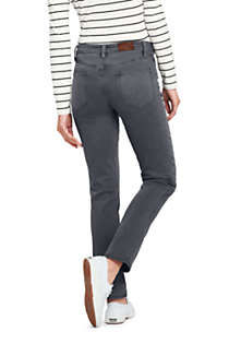 Women's Petite Mid Rise Straight Leg Jeans - Color, Back