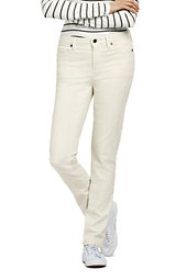 Lands' End Women's Mid Rise Straight Leg Jeans