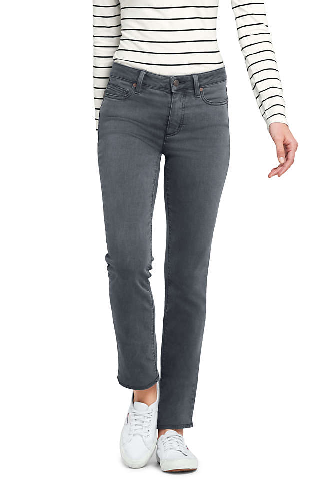 Women's Tall Mid Rise Straight Leg Jeans - Color, Front