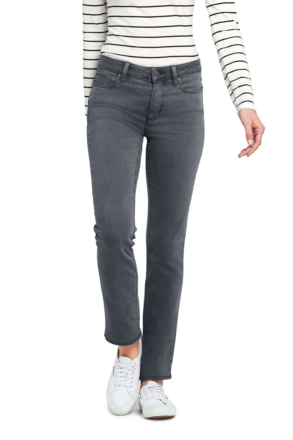 9078d20c350 Women s Mid Rise Straight Leg Colorful Jeans from Lands  End