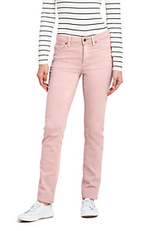 Women's Mid Rise Straight Leg Coloured Jeans