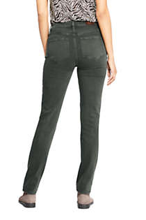 Women's Mid Rise Straight Leg Jeans - Color, Back