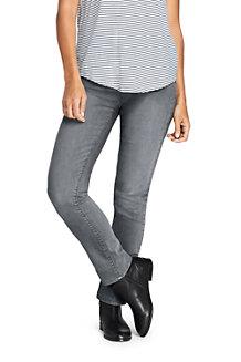 Le Jean Coloré Stretch Droit Taille Mi-Haute, Femme
