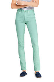 Women's Petite Mid Rise Straight Leg Colorful Jeans