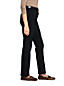 Le Jean Droit Stretch Taille Haute Noir, Femme Stature Standard