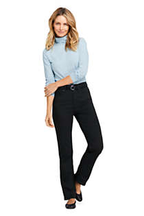 Women's Tall High Rise Straight Leg Twill Jeans - Black, alternative image