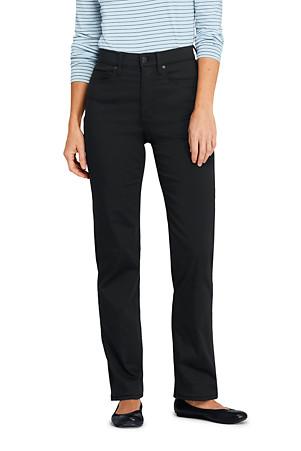 b37b26d40d Women's High Waisted Black Jeans, Straight Leg | Lands' End