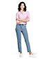 Women's High Waisted Stove Pipe Ankle Jeans
