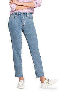 Taillenhohe Stove Pipe-Jeans in Medium Rinse für Damen