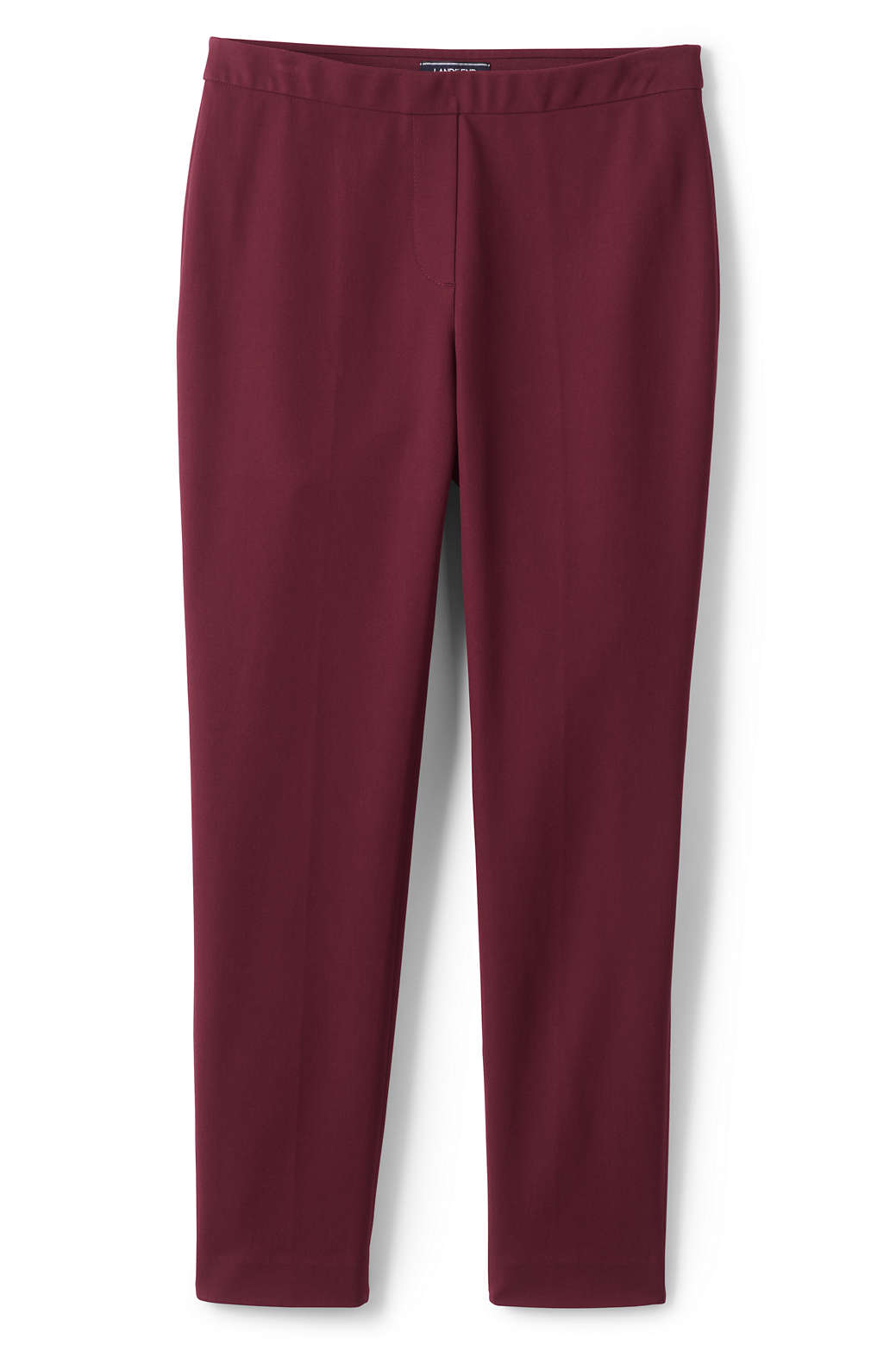 92642048874 Women s Plus Size Mid Rise Bi-Stretch Pull-on Ankle Pants from Lands  End
