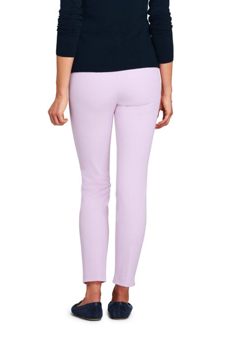Women's Petite Mid Rise Bi-Stretch Pull-on Ankle Pants