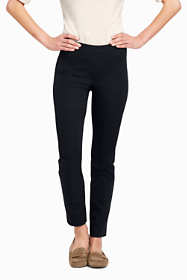 School Uniform Women's Mid Rise Bi-Stretch Pull-on Ankle Pants