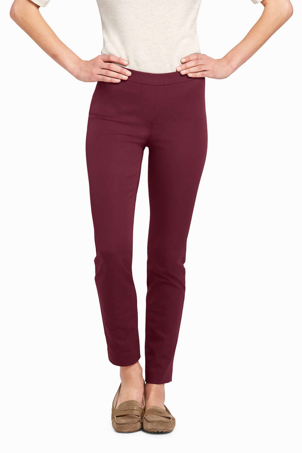 489a311ab8e Women s Mid Rise Bi-Stretch Pull-on Ankle Pants from Lands  End