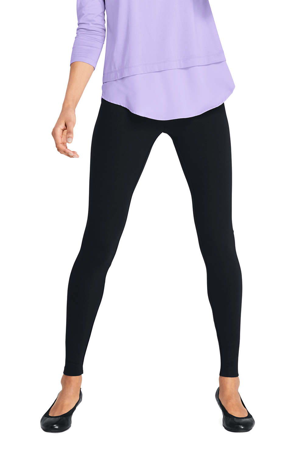 2caa9a7ce3a Women s Ponte Seamless Leggings from Lands  End