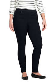 Women's Plus Size Mid Rise Pull On Skinny Black Jeans