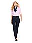 Le Jean Droit Stretch Taille Haute Indigo, Femme Stature Standard
