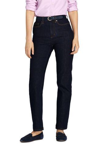 Women's High Waisted Straight Leg Jeans