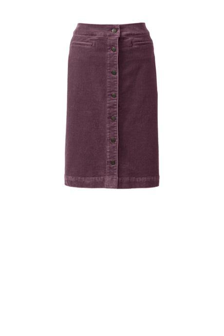 Women's Petite Woven Corduroy Skirt